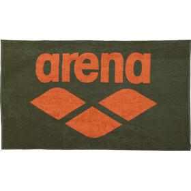 arena Pool Soft Asciugamano, verde/arancione